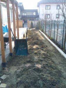 priprava zemlje za polaganje travnih tepihov